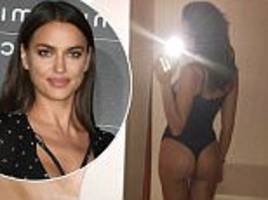 Irina Shayk does a Kim Kardashian as she snaps picture of swimsuit-clad behind