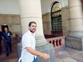 no time for amethi? rahul gandhi 'too busy' to inaugurate an educational institute named after his father
