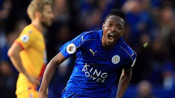 musa strike helps leicester ease past palace