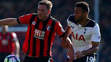 tottenham held to draw at bournemouth