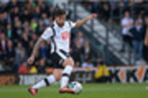 derby county midfielder jacob butterfield prepares for huddersfie...