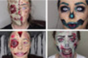 watch incredible halloween make-up video tutorials by hull artist