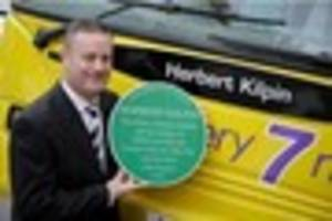 nottingham city transport bus named in honour of herbert kilpin,...