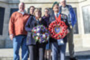 final wreath-laying ceremony for family of former hms renown crew