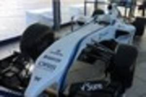 williams formula one car on display in plymouth city centre