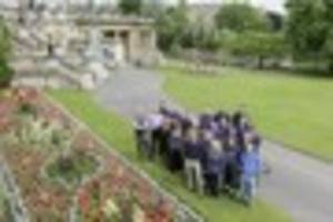 silver gilt award for bath's parade gardens in south west in...
