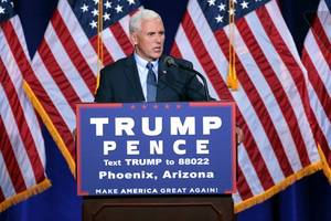 Pence continues to massage Trump's controversial remarks