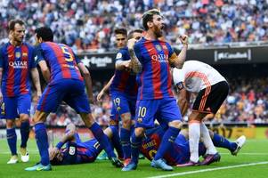 Lionel Messi shouts 'c*** of your mother' at Valencia fans who hit Neymar in head with bottle