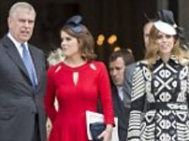 prince charles 'blocks prince andrew's request for beatrice and eugenie's royal roles'