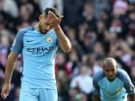 sergio aguero's underwhelming display against southampton gives pep guardiola a lot to think about
