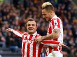 stoke's xherdan shaqiri insists 'i watch my really beautiful goals time and time again' following two stunning strikes against hull