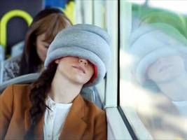 this new travel pillow could make sleeping on flights much easier