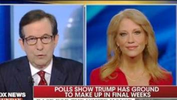 'where is the realistic path to 270?': chris wallace grills conway on trump's poll numbers