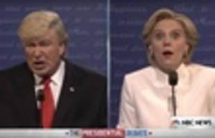 watch snl spoof final presidential debate: 'they're ripping babies out of vaginas!'