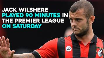 jack wilshere: how long since he last played 90 minutes?