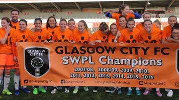 glasgow city clinch 10 league titles in a row by beating hibs