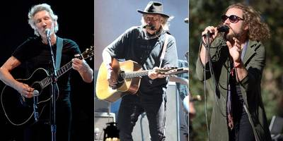 "watch neil young, roger waters, my morning jacket perform ""forever young"""