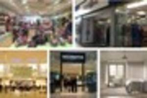 The shops in Derby's Intu centre which are opening and closing
