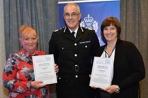 Police officers given top award for reducing crime in Craigneuk and Gowkthrapple