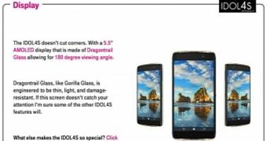 Leak Shows Comparison Between Alcatel IDOL 4S Windows Phone and iPhone 7