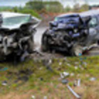 two injured in highway crash north of napier