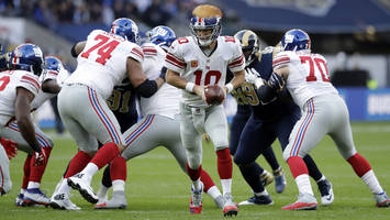 Watch: Eli Manning uses 'Trump' as audible call
