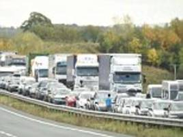 half-term getaway chaos: families face four-hour queues as a five-mile stretch of the a66 closes in both directions