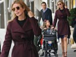 Ivanka Trump dons chic coat and high heels from her own fashion label for school run