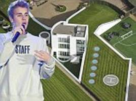 Justin Bieber rents a futuristic £4.75million hideaway in the North