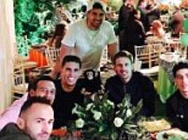 arsenal stars enjoy jungle-themed birthday celebration following hard earned draw with middlesbrough