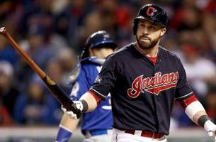 Indians' Jason Kipnis dealing with sprained ankle from ALCS celebration