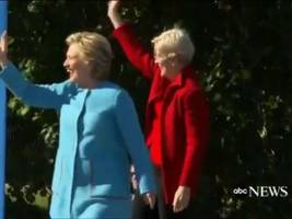 Watch: Hillary Clinton Campaigns with Elizabeth Warren in NH