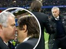 Jose Mourinho blasts Antonio Conte for 'humiliating' celebrations during Manchester United's defeat at Chelsea