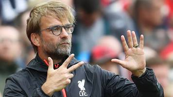 liverpool have not been close to 100% - klopp