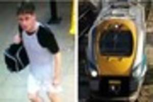 police are hunting alleged train flasher