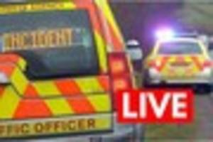 crash blocks westbound a38