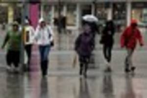 Severe weather warning for rain in Plymouth