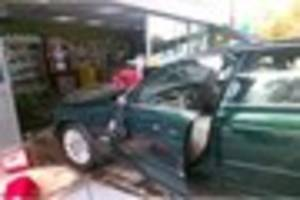 three treated by ambulance staff after car crashes into cannock...