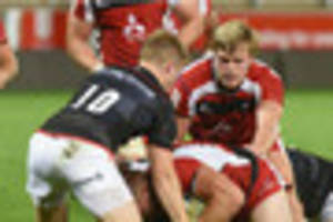 rising gloucester rugby stars feature in eight-try b&i cup...