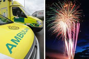 ambulance workers left 'shaken' after they were targeted with fireworks while attending a 999 call