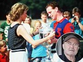 Phil Collins says he spotted James Hewitt driving Princess Diana at the height of their affair as she boasted to the singer about the colonoscopy she'd just had