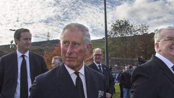 aberfan: prince charles' wreath message taken from cemetery