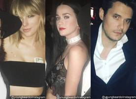 Awkward! Taylor Swift, Katy Perry and Ex John Mayer Attend Drake's Birthday Party