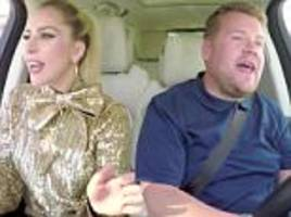 lady gaga shouts out the window and reenacts her super bowl hiring on carpool karaoke