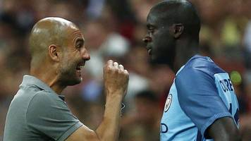 guardiola still waiting for apology from toure's agent