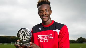 tammy abraham: efl young player award for bristol city's on-loan chelsea striker