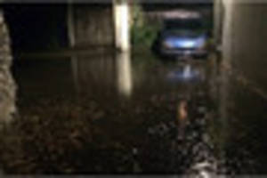 flash floods leave parts of plymouth under water and emergency...