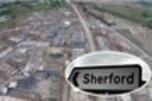 Latest drone fly-over reveals progress of Sherford new town from...