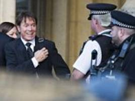 police gave bbc 'running commentary' in sir cliff richard raid