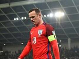 gareth southgate will stand by 'hugely influential' england captain wayne rooney for matches against scotland and spain